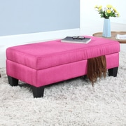 Madison Home USA Classic Linen Storage Bedroom Bench; Rose Red