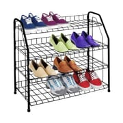 Sunbeam 4-Tier Shoe Rack; Black