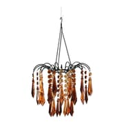 Zappobz Dazzling 1-Light Crystal Pendant; Brown