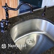Nantucket Sinks 23.75'' x 21.5'' 16 Gauge D Shape Undermount Kitchen