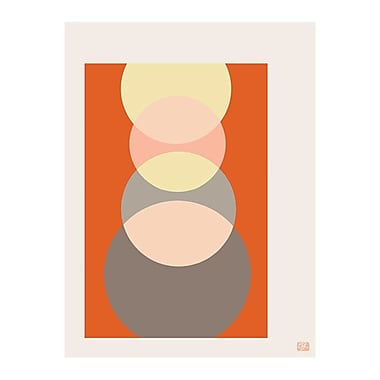 emma at home by Emma Gardner Foureyes Graphic Art on Canvas in Creamsicle; 30'' H x 20'' W