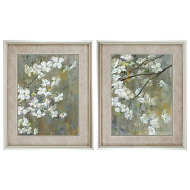 Propac Images Dogwood in Spring 2 Piece Framed Painting Print Set