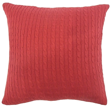 The Pillow Collection Cassandra Pillow (Set of 2); Red