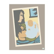 emma at home by Emma Gardner We Three Graphic Art on Canvas in Blue; 14'' H x 11'' W