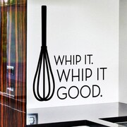 Wallums Wall Decor Whip It Good Whisk Wall Decal; Black