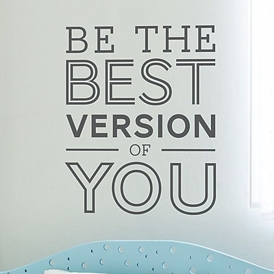 Wallums Wall Decor Be the Best Version of You Quote Wall Decal; Brown