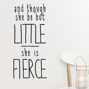Wallums Wall Decor She Is Fierce Quote Wall Decal; Gray