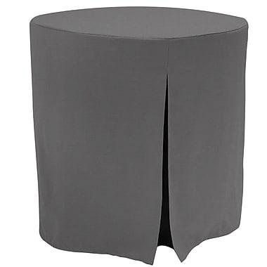 Tablevogue Decorator Tablecloth; Black Chambray