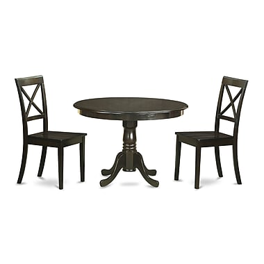 East West Hartland 3 Piece Dining Set; Cappuccino