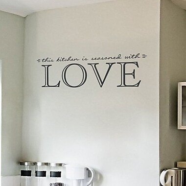 Wallums Wall Decor This Kitchen Is Seasoned w/ Love Quote Wall Decal; White