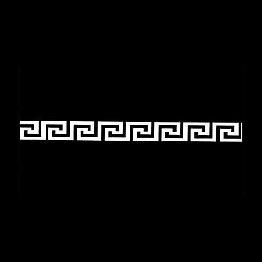 O'verlays Greek Key Appliqu Wall D cor; 2'' H x 96'' W