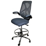Fr sch High-Back Mesh Drafting Chair; Dark Gray