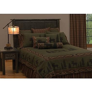Wooded River Moose Bedspread; California King