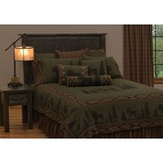 Wooded River Moose Coverlet Bedding Set; Twin