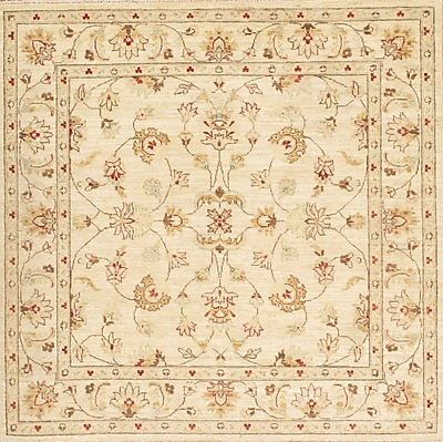 Pasargad NY Ferahan Hand-Knotted Beige Area Rug