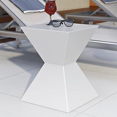Sunpan Modern Urban Unity Rocco End Table; White