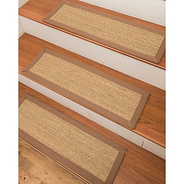 Natural Area Rugs Costa Rica Seagrass Carpet Beige Stair Tread