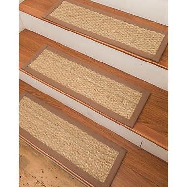 Natural Area Rugs Half Panama Seagrass Carpet Beige Stair Tread