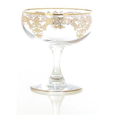 ClassicTouch Vivid Dessert Bowl (Set of 4); Beige