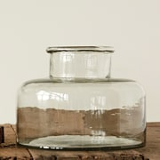 Creative Co-Op Botanist Hand Blown Glass Bottle Shaped Vase; 7.9'' H x 9.8'' W x 9.8'' D