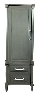 LUXE by Deluxe Vanity Continental 2 Drawer and 1 Door Accent Cabinet; Gray