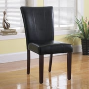 BestMasterFurniture Faux Leather Side Chair (Set of 2); Black