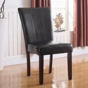 BestMasterFurniture Faux Leather Side Chair (Set of 2); Espresso