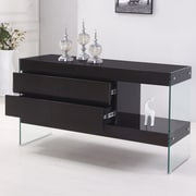 Best Quality Furniture 4 Drawer Accent Cabinet; Black