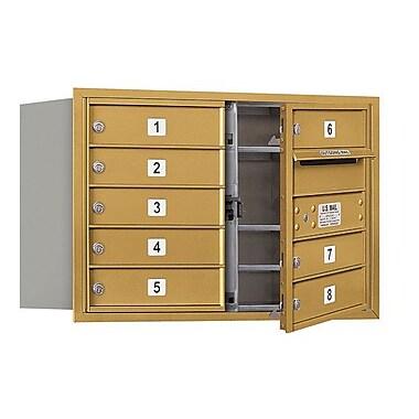 Salsbury Industries 8 Door Front Load 4C Horizontal Mail Center; Gold