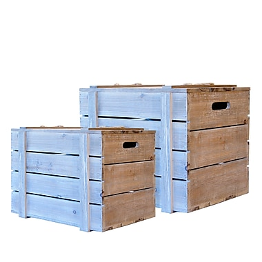 American Mercantile Faded Charm 2 Piece Crate Set