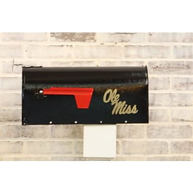 HensonMetalWorks NCAA Curbside Wall Mounted Mailbox; University of Mississippi
