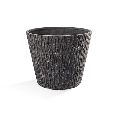 Surreal Nature's Look Oak Molded Plastic Pot Planter; 13'' H x 16'' W x 16'' D