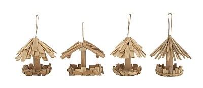 Woodland Imports 4 Piece Adorable Decorative Bird