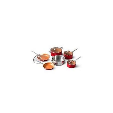 Gotham Steel 10 Piece Red Cookware Set Ti Cerama