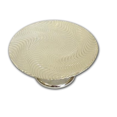 ClassicTouch Trophy Footed Glass Cake Stand