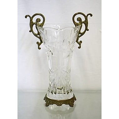 ClassicTouch Crystal Handle Vase