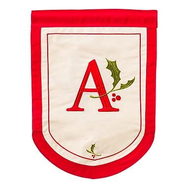 Evergreen Enterprises, Inc Holiday Monogram Garden Flag; A