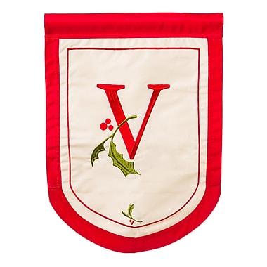 Evergreen Enterprises, Inc Holiday Monogram Garden Flag; V