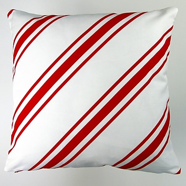 Artisan Pillows Christmas Candy Cane Stripes Throw Pillow Cover