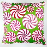 Artisan Pillows Christmas Field of Peppermint Candy Throw Pillow Cover