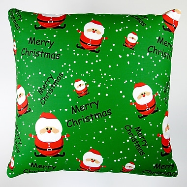 Artisan Pillows Christmas Merry Christmas Santa Claus Throw Pillow