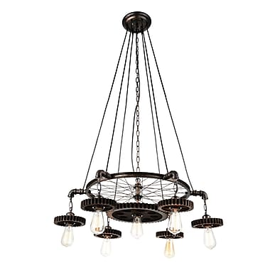 CrystalWorld Prado 7-Light Candle-Style chandelier