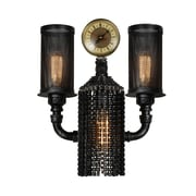 CrystalWorld Union 2-Light Armed Sconce