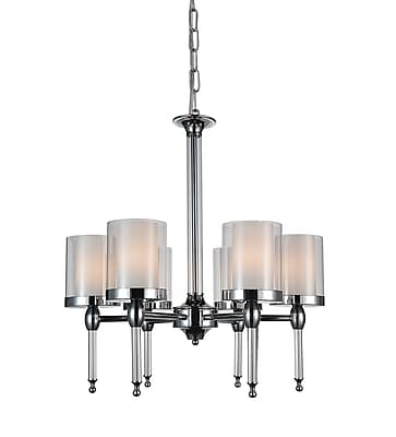 CrystalWorld Maybelle 6-Light Shaded Chandelier