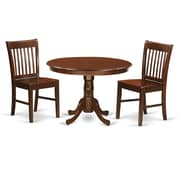 East West Hartland 3 Piece Dining Table Set