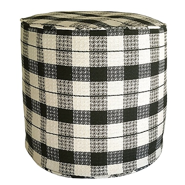 R&MIndustries Littlefield Plaid Pouf Ottoman