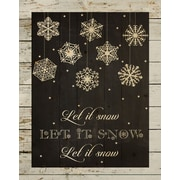 HadleyHouseCo 'Let It Snow Christmas Pallet Sign' Textual Art on Wood in Black