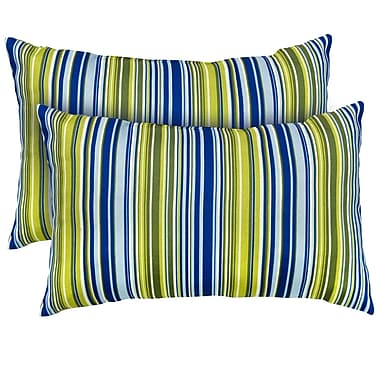 Greendale Home Fashions Vivid Stripe Throw Pillow (Set of 2)