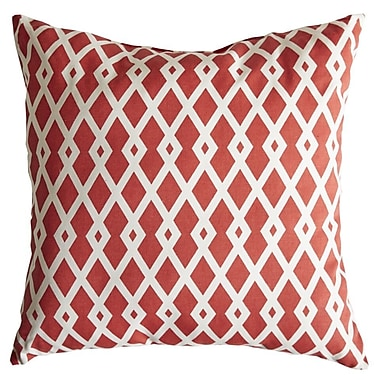 Swan Dye and Printing Graphic Fret Cotton Throw Pillow