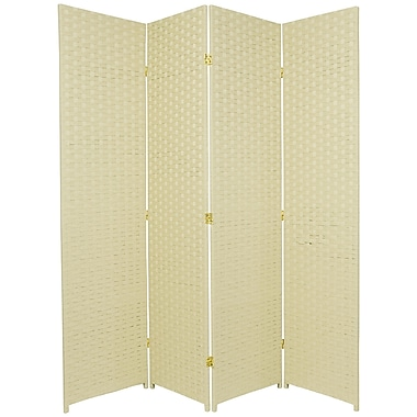Oriental Furniture 71'' x 68'' 4 Panel Room Divider